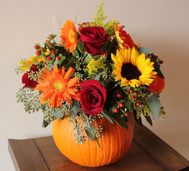 обои на рабочий стол осенние цветы композиции из цветов № 241460 загрузить